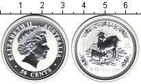 Изображение Монеты Австралия 50 центов 2003 Серебро Proof- Год козы.