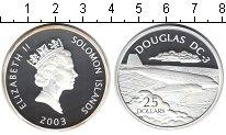 Изображение Монеты Соломоновы острова 25 долларов 2003 Серебро Proof- Самолет.