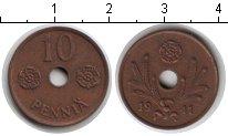 Изображение Мелочь Финляндия 10 пенни 1941 Медь