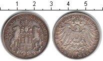 Изображение Монеты Гамбург 2 марки 1903 Серебро VF
