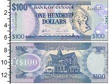 Изображение Банкноты Гайана 100 долларов 0  UNC-