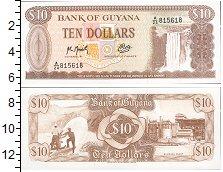 Изображение Боны Гайана 10 долларов 0  UNC- Водопад Кайетур. Стр