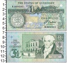 Изображение Боны Гернси 1 фунт 0  UNC-