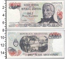 "Изображение Банкноты Аргентина 10 песо 0  UNC- <span style=""font-si"