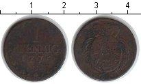 Изображение Монеты Саксония 1 пфенниг 1775 Медь  C