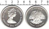 Изображение Монеты Остров Святой Елены 25 пенсов 1977 Серебро Proof- Серебряный юбилей