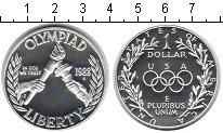 Изображение Монеты США 1 доллар 1988 Серебро Proof Олимпиада-1988