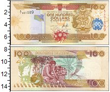 Изображение Боны Соломоновы острова 100 долларов 0  UNC &nbsp;<div>A/<span s