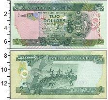 Изображение Банкноты Соломоновы острова 2 доллара 0  UNC Государственный герб
