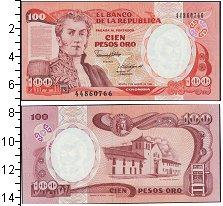 Изображение Банкноты Колумбия 100 песо 1985  UNC-