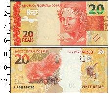 Изображение Банкноты Бразилия 20 рейс 2010  UNC- Золотой тамарин.