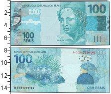 """Изображение Боны Бразилия 100 рейс 0  UNC- Скульптура """"Республи"""