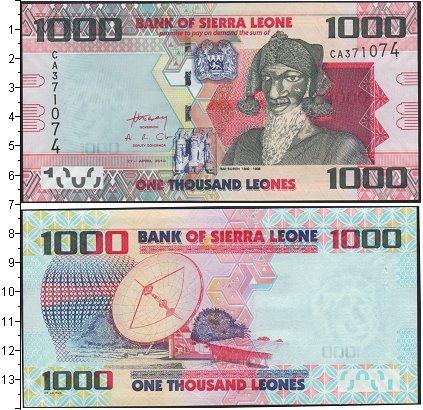 Картинка Банкноты Сьерра-Леоне 1.000 леоне  0