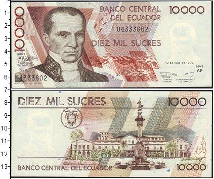 Картинка Боны Эквадор 10.000 сукре  1999