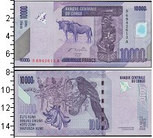 Изображение Боны Конго 10000 франков 2013  UNC