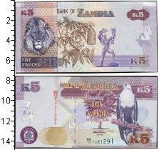 Изображение Банкноты Замбия 5 квач 2015  UNC-