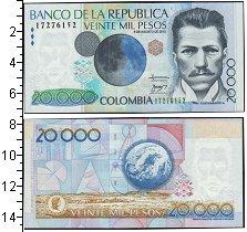 Изображение Банкноты Колумбия 20000 песо 2010  UNC-