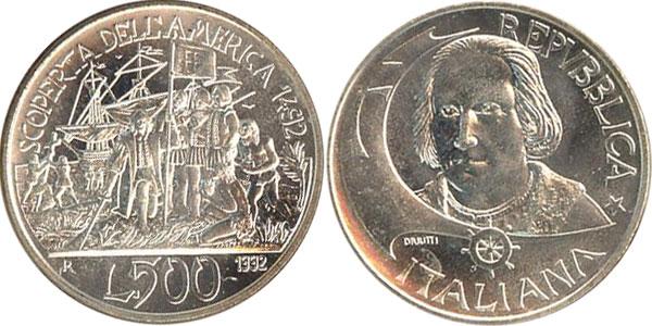 Картинка Подарочные наборы Италия 500-летие открытия Америки Серебро 1992