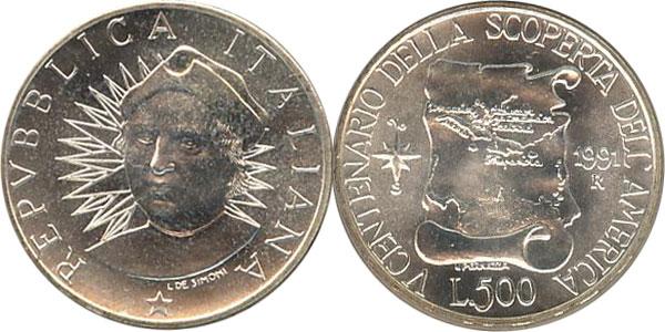 Картинка Подарочные наборы Италия 500-летие открытия Америки Серебро 1991