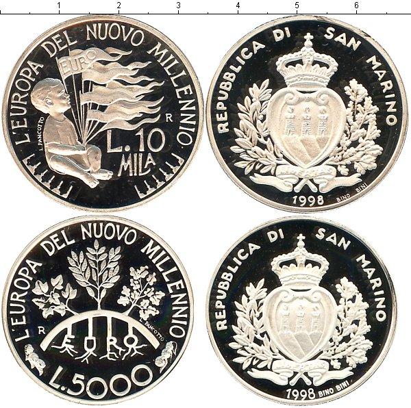 Картинка Подарочные наборы Сан-Марино Европа в новом тысячелетии Серебро 1998