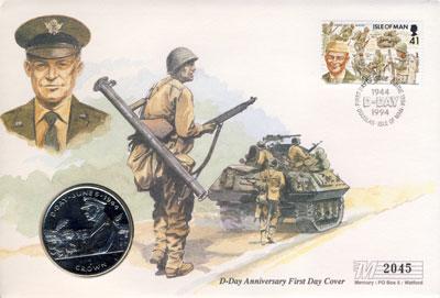 Изображение Подарочные монеты Остров Мэн 1 крона 1994 Медно-никель UNC Подарочная монета D-