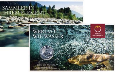 Изображение Подарочные монеты Австрия Сохранение животного мира 2013 Серебро UNC Подарочная монета по