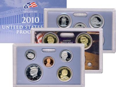 Изображение Подарочные наборы США Пруф-сет 2010 года 2010 Медно-никель Proof