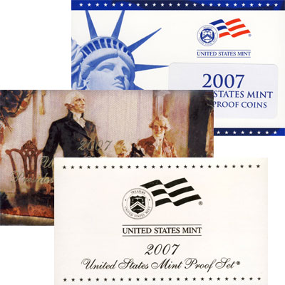 Изображение Подарочные наборы США Пруф-сет 2007 года 2007 Медно-никель Proof