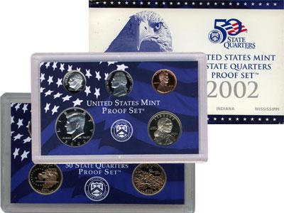 Изображение Подарочные наборы США Пруф-сет 2002 года 2002 Медно-никель Proof Подарочный набор пру