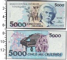 Изображение Боны Бразилия 5000 крузейро 0  UNC-