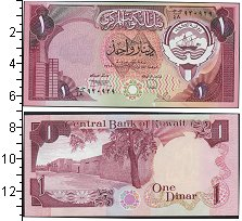 Изображение Банкноты Кувейт 1 динар 1980  UNC