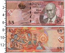Изображение Боны Багамские острова 5 долларов 0  UNC- Праздник Джанкану. С