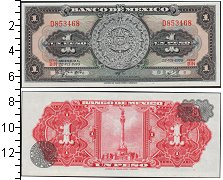 Изображение Боны Мексика 1 песо 0  UNC-