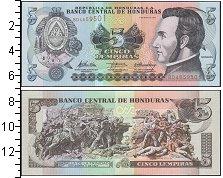 Изображение Банкноты Гондурас 5 лемпир 2010  UNC-