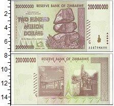 Изображение Банкноты Зимбабве 200000000 долларов 0  UNC-