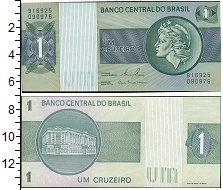 """Изображение Боны Бразилия 1 крузейро 0  UNC- Скульптура """"Республи"""