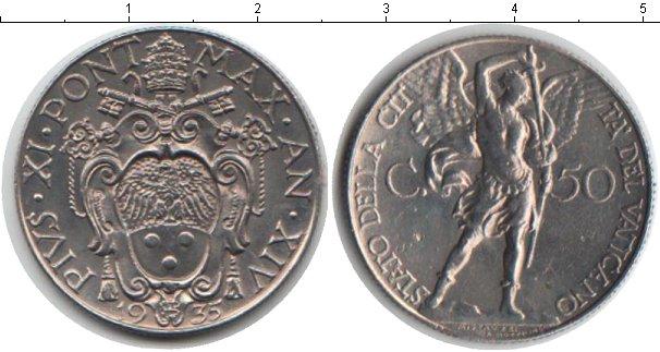 Картинка Монеты Ватикан 50 сентим Медно-никель 1935