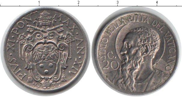 Картинка Монеты Ватикан 20 сентим Медно-никель 1935