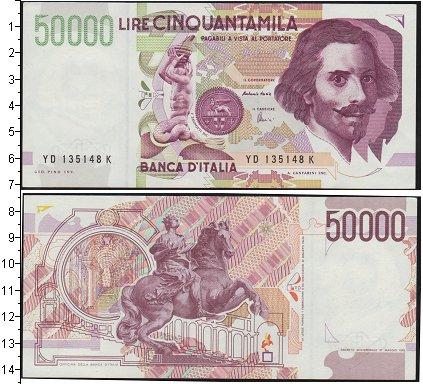 Картинка Банкноты Италия 50.000 лир  0