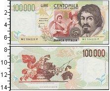 Изображение Банкноты Италия 100000 лир 1994  UNC-