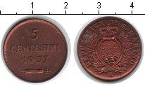 Изображение Монеты Сан-Марино 5 сентесим 1937 Медь XF