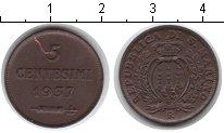 Изображение Монеты Сан-Марино 5 сентесим 1937 Медь VF