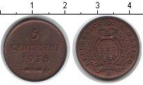 Изображение Монеты Сан-Марино 5 сентесим 1938 Биметалл XF