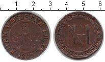 Изображение Монеты Вестфалия 5 сантимов 1809 Медь XF C