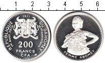 Изображение Монеты Дагомея 200 франков 1971 Серебро Proof- женщина