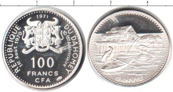 Картинка Монеты Дагомея 100 франков Серебро 1971