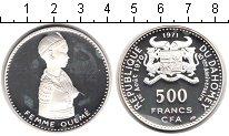 Изображение Монеты Дагомея 500 франков 1971 Серебро Proof- женщина