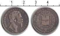 Изображение Монеты Италия 1 лира 1860 Серебро VF Витторио Имануил