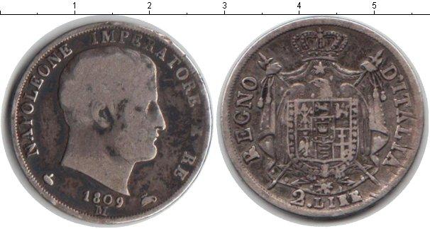 Картинка Монеты Италия 2 лиры Серебро 1809