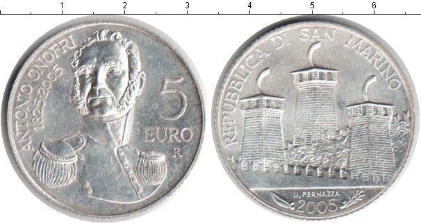 Картинка Монеты Сан-Марино 5 евро Серебро 2005